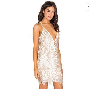 Rose gold saylor sequin mini formal revolve dress